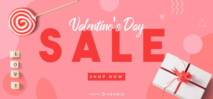 Valentine's sale web slider template
