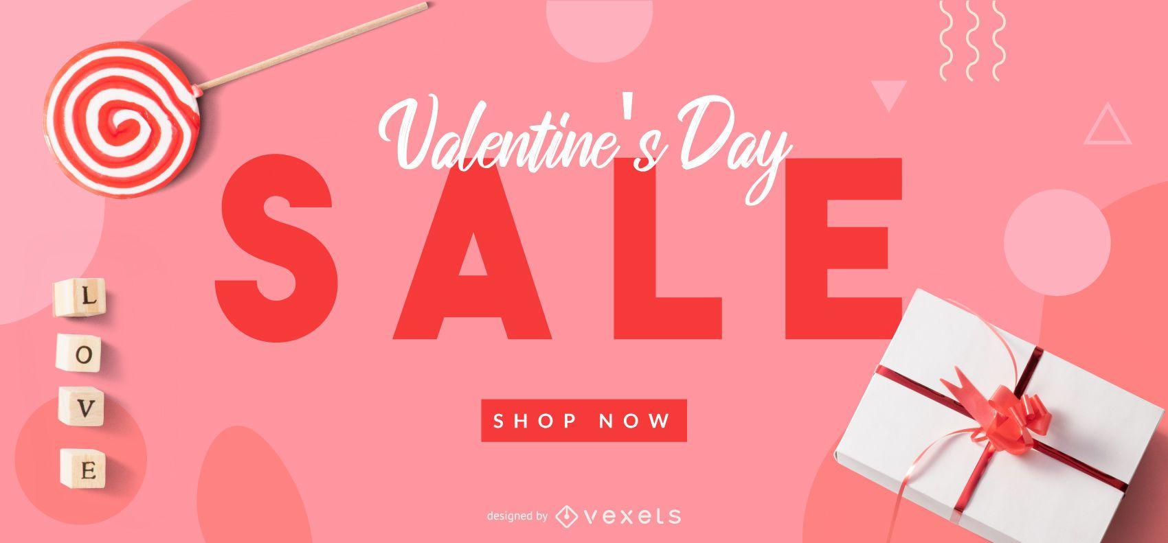 Valentine's sale web slider template