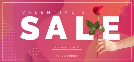 Valentinstag Verkauf Schieberegler Vorlage