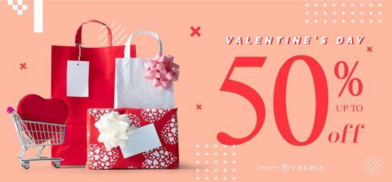 Plantilla de control deslizante web del día de San Valentín