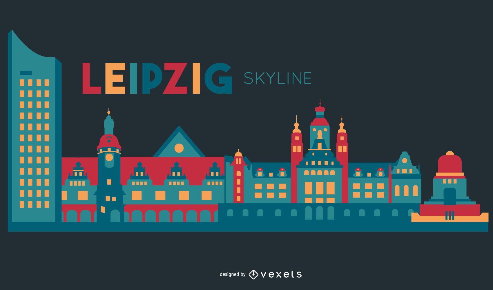 Leipzig skyline design
