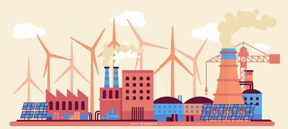 Factory Building Landscape Design