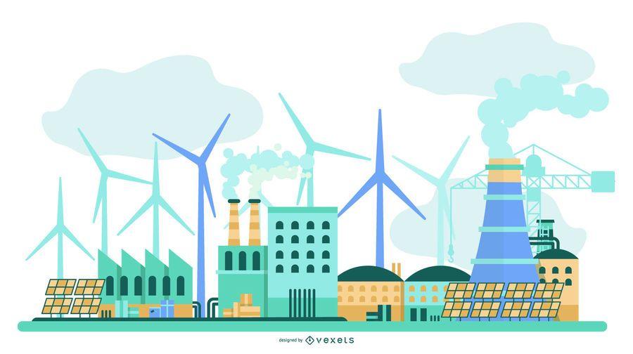 Power Plant Green Energy Building Design