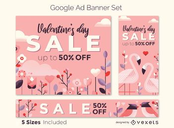 Conjunto de banner de venda do dia dos namorados