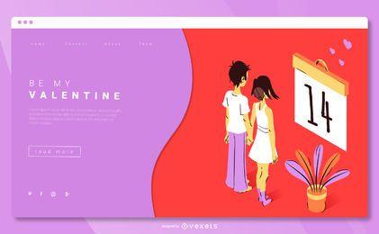 Plantilla de página de destino de San Valentín