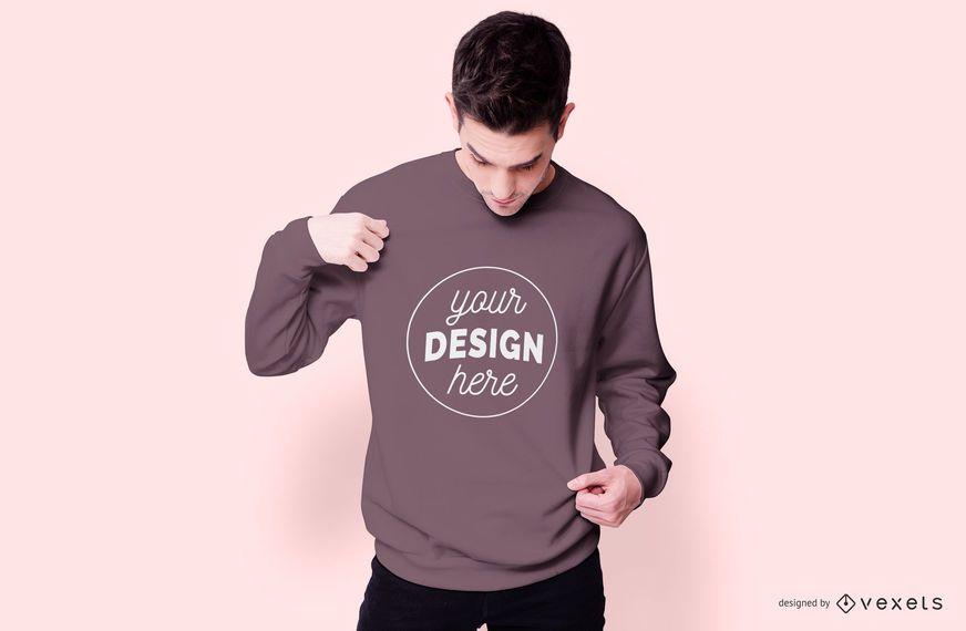 Sweatshirt model mockup