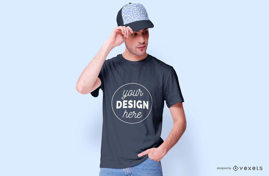 Design de maquete de modelo masculino