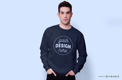 Guy wearing sweatshirt mockup