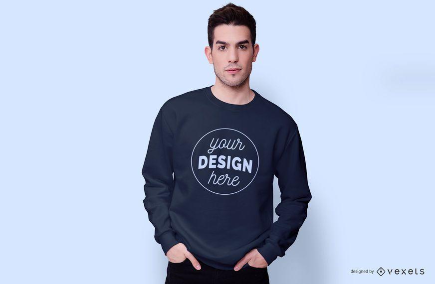 Tragendes Sweatshirtmodell des Kerls