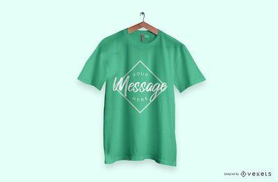 Maqueta de camiseta verde