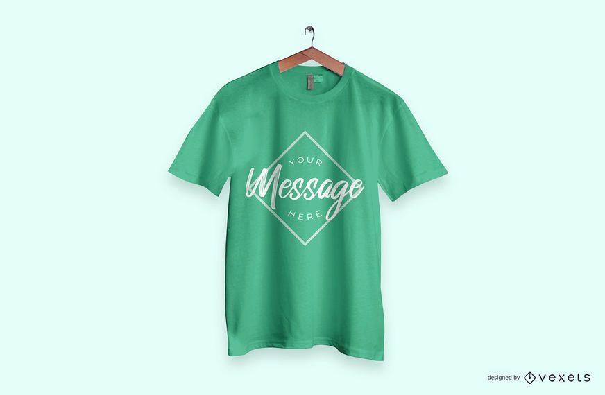 Green t-shirt mockup