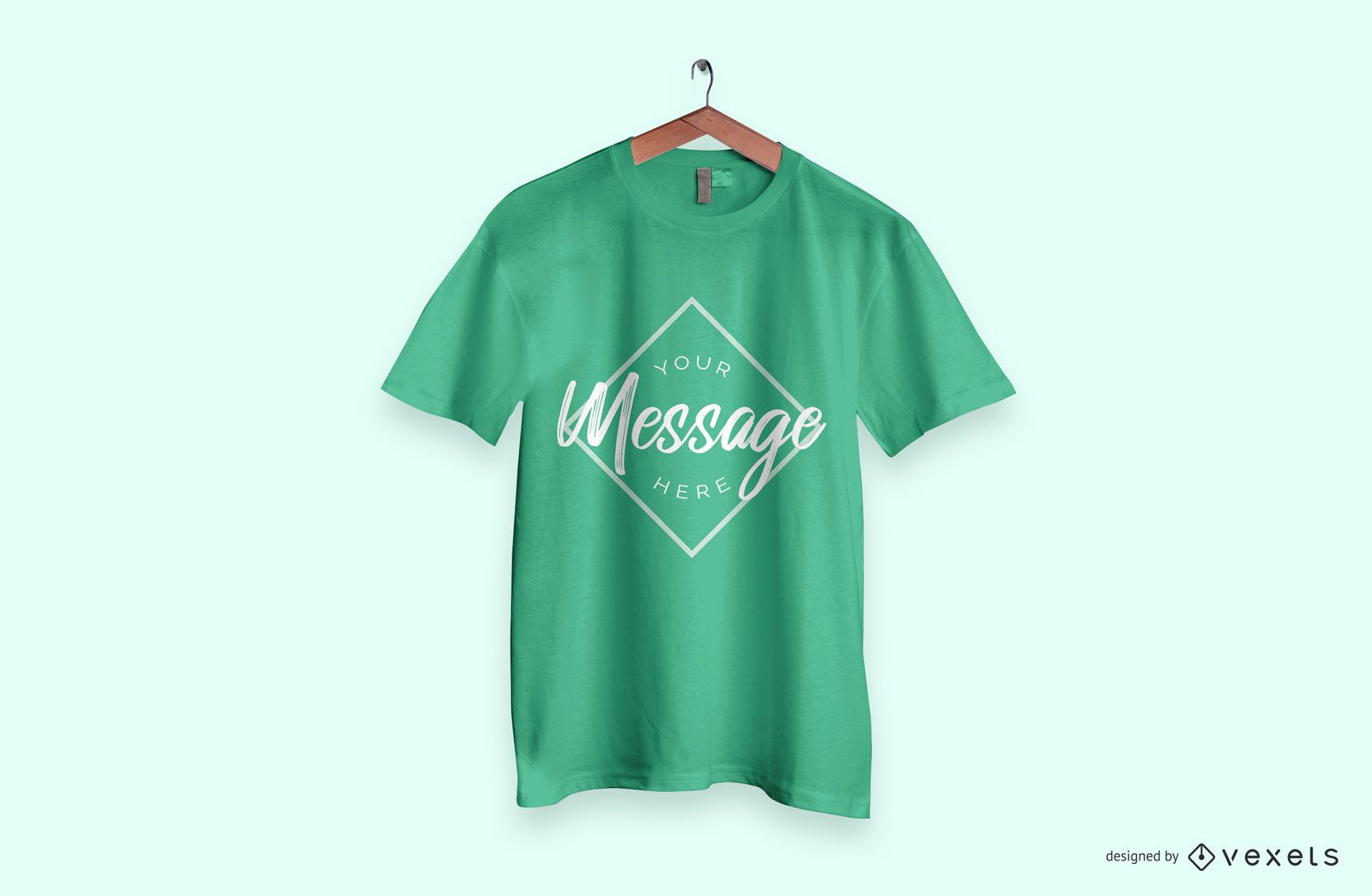 Maquete de camiseta verde