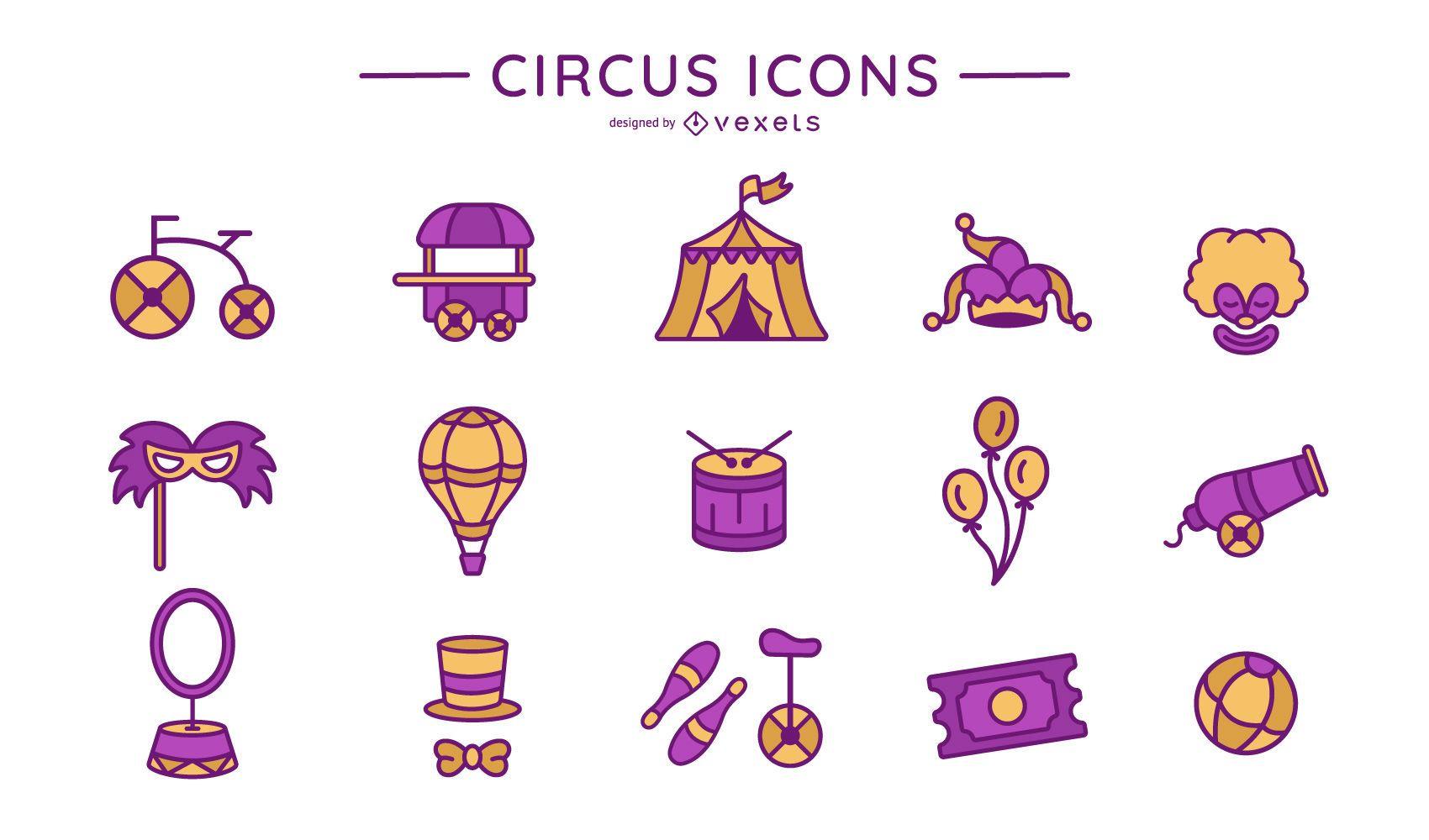 Circus icon collection
