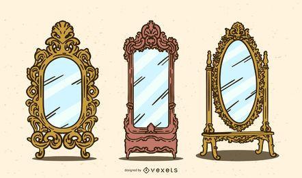 Conjunto de espelhos vintage