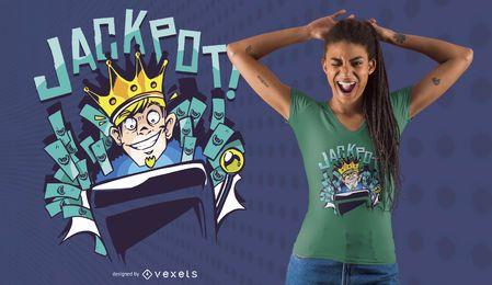 Design de t-shirt de jackpot