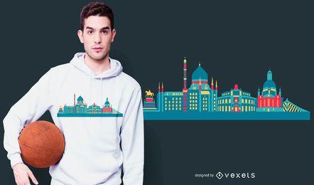 Diseño de camiseta del horizonte de Dresde