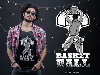 Design de t-shirt de basquete