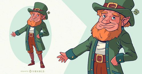 St patrick's day leprechaun character