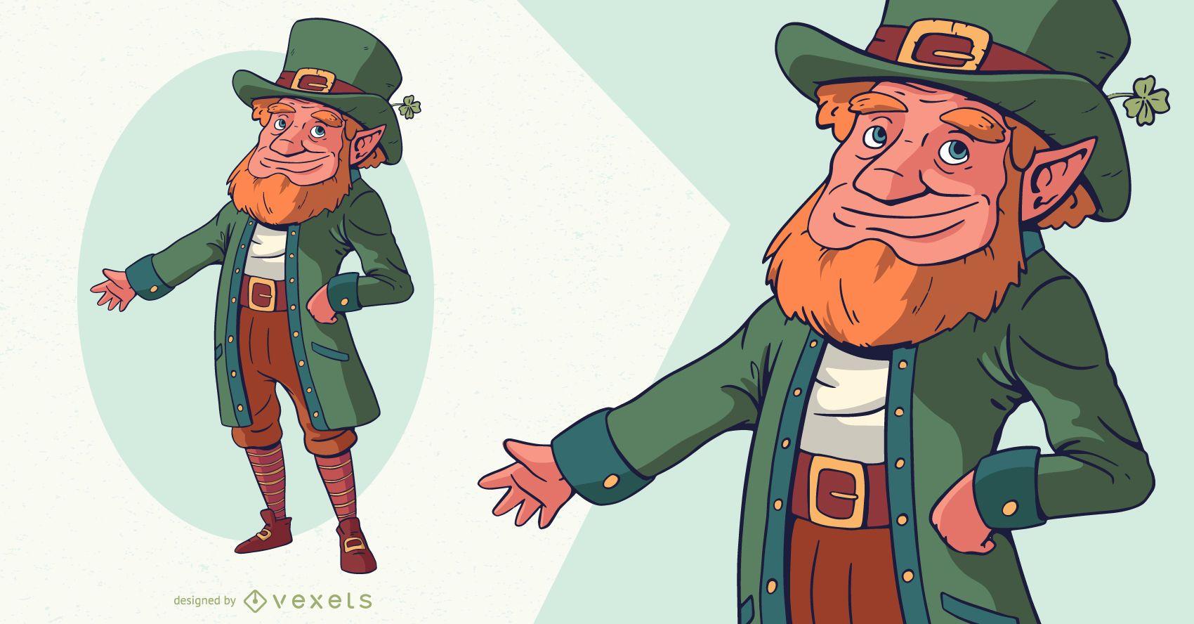 St patrick's day leprechaun character