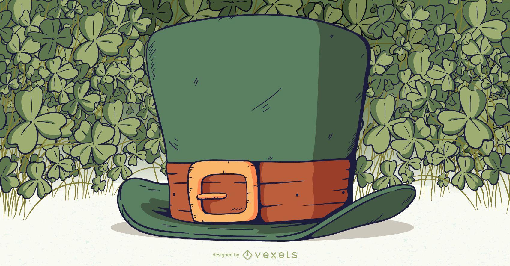 Ilustración de sombrero de duende