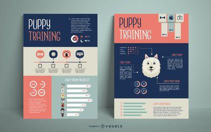 Diseño de infografía de entrenamiento de perros