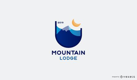 Design de logotipo do Mountain Lodge