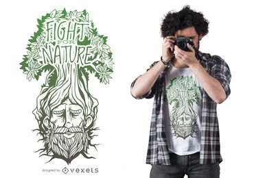 Fight nature t-shirt design