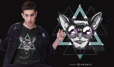 Design de t-shirt chihuahua espaço