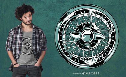 Car Wheel Rim T-shirt Design