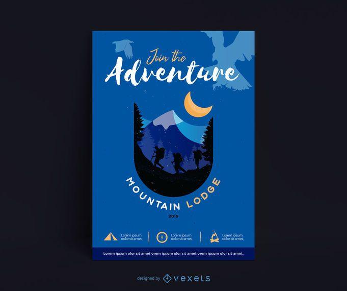 Mountain Lodge Poster Design