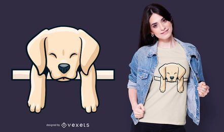 Design de t-shirt de labrador retriever