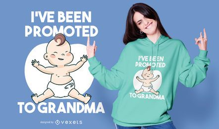 Baby grandma quote t-shirt design