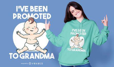 Design de t-shirt com citações da avó do bebé