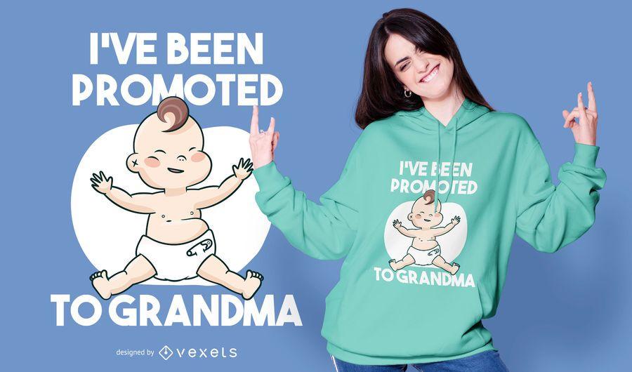 Baby grandma quote t-shirt design