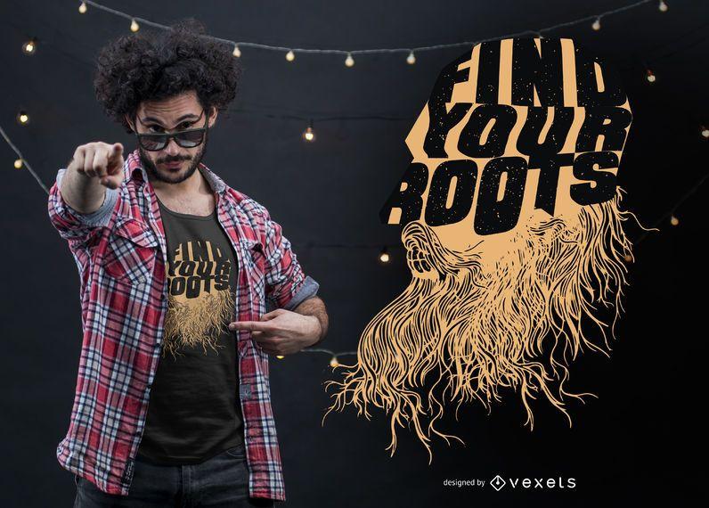 Encontre o seu design de camiseta de raízes