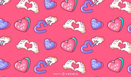 Valentine's day kiss me pattern design
