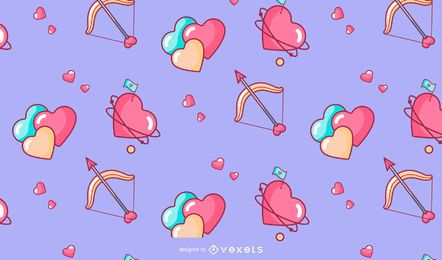 Dia dos namorados corações design padrão