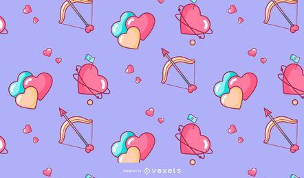 Valentinstagherz-Musterdesign