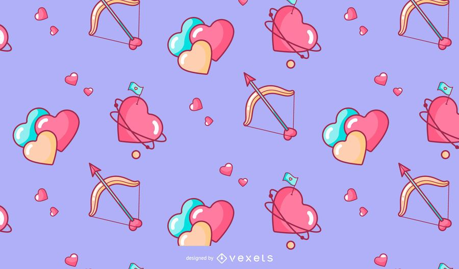 Valentine's day hearts pattern design