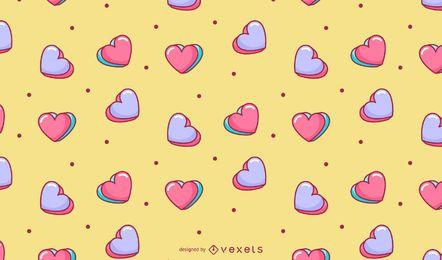 Desenho de corações de namorados