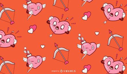 Lustiges Valentinstagmusterdesign