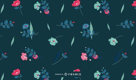 Diseño lindo del estampado de flores