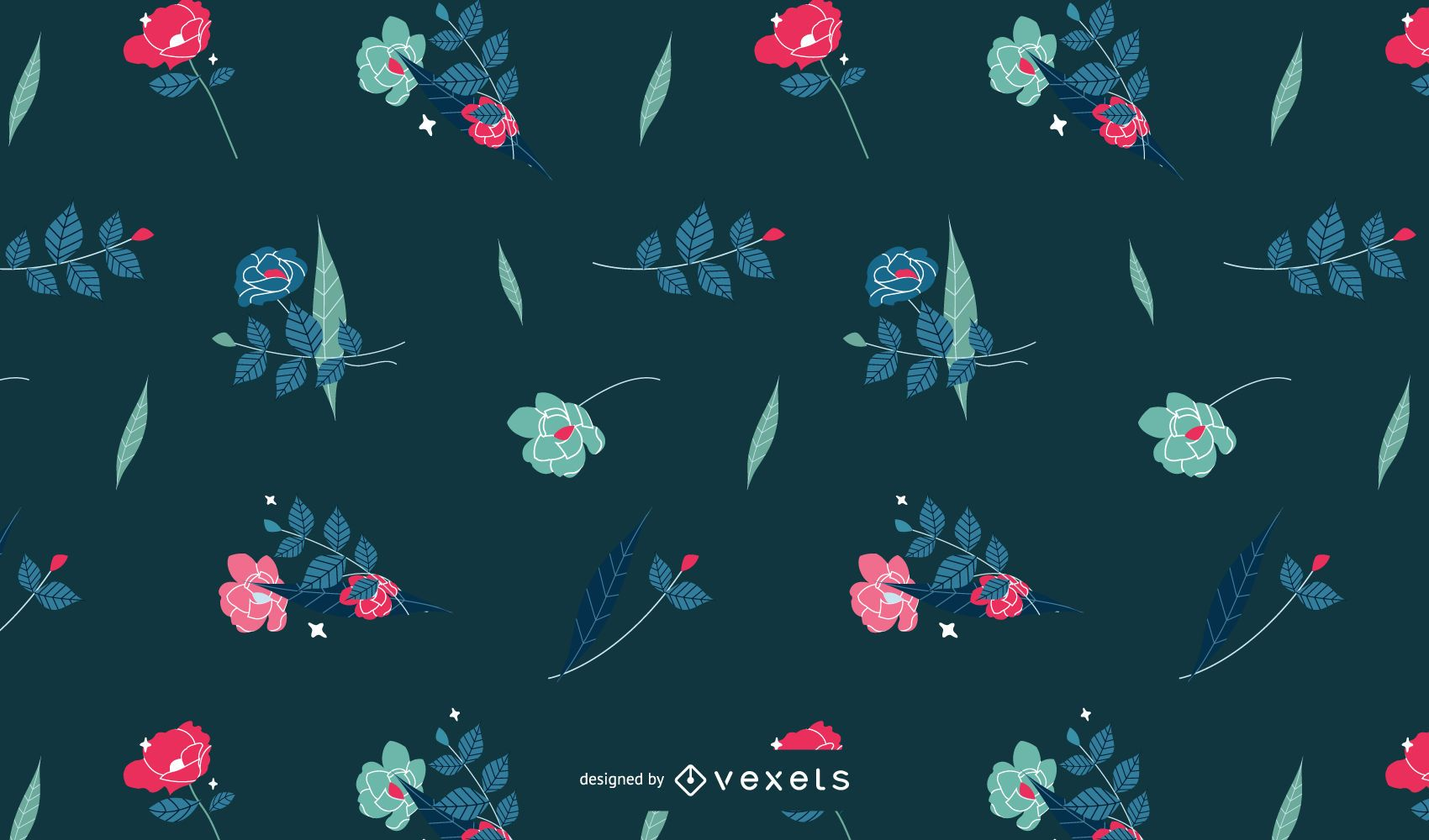 Cute floral pattern design