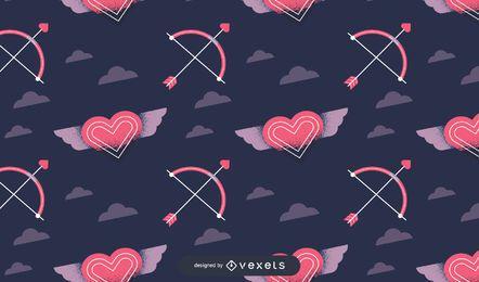 Design de padrão de dia dos namorados