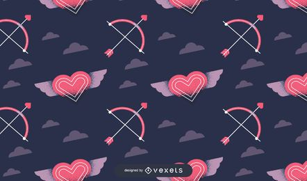 Valentinstag Musterdesign