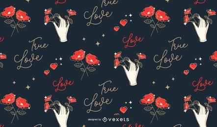 Liebesmusterentwurf des Valentinsgrußes