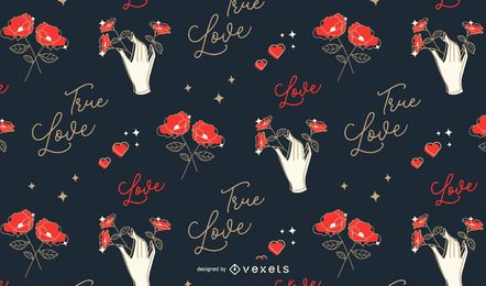 Valentine's love pattern design