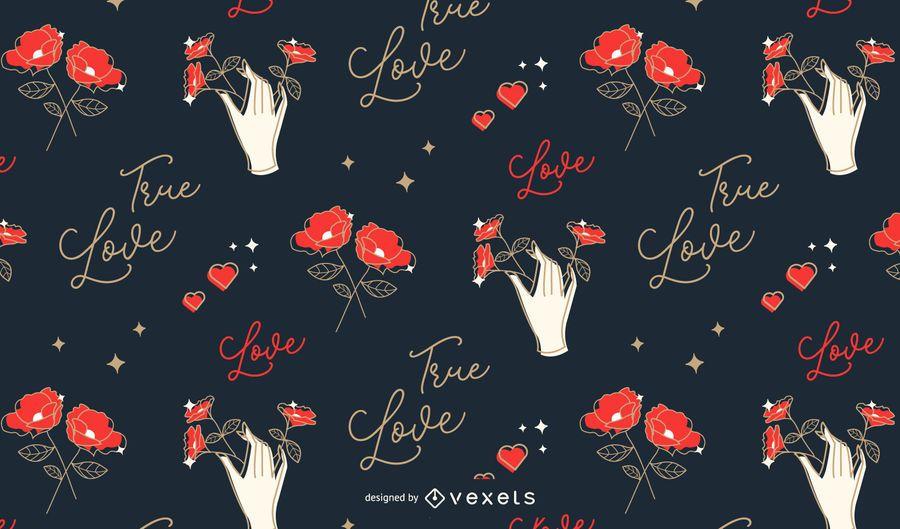 Design de padrão de amor dia dos namorados