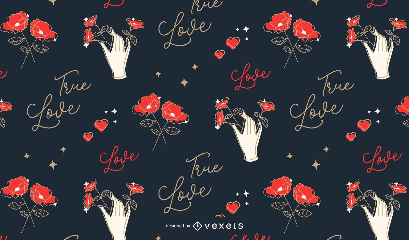 Valentine's love pattern design