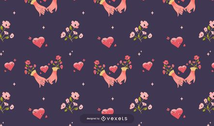 Valentine's hands pattern design